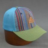 Sombrero de basebll de la parte posterior de la rejilla de 6 paneles Casquillo cabido con el logotipo grabado en relieve