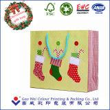 Подгонянный мешок рождества бумажный для упаковывать подарка
