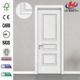 Porte en bois intérieure lisse d'amorce blanche