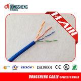 Approvisionnement d'usine pour le câble résistant au feu 1000FT 0.57mm 23AWG 4 paires de câble d'UTP CAT6