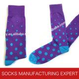 Mens-bunte Baumwollkleid-Socken (UBM-026)