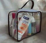 Material do PVC e tipo saco transparente do saco do cuidado de pele do curso do PVC