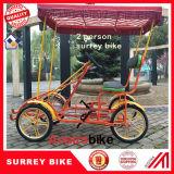 2 Seat 2 Person Bike Green Surrey Bike