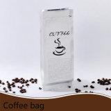 [فلت بوتّوم] يقف بنيقة فوق ألومنيوم أبيض [متّ] يرقّق قهوة كيس مع رمز بريديّ تعقّب هويس/بلاستيكيّة تعليب حقيبة مع [زيبلوك] ([مل-20])