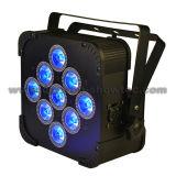 IGUALDAD con pilas sin hilos 9X12W RGBWA+UV 6 in-1 de DMX LED