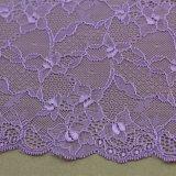 Ajustes elásticos del cordón de nylon del estiramiento del bordado para la ropa/la ropa interior