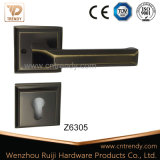 Alça de alavanca de bloqueio de porta cromada de estilo europeu clássica (Z6370-ZR17)