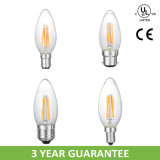 Small Edison Screw E12 E14 Clear Glass Filament Light Bulb