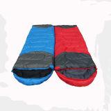 빨강과 파란 옥외 운동 구렁 면 슬리핑백