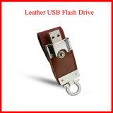 USB do couro do disco instantâneo do USB da corrente chave do metal USB3.0