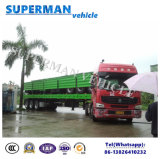 40FT de Oplegger van de Vrachtwagen van de Container van de Zijwand van de Lading stortgoed van de tri-As van het nut