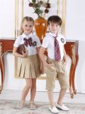 Moda personalizada Elegante Escola Primária Men's and Girl's Uniform S53103