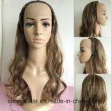 Nuova parrucca ondulata naturale popolare dello Synthetic dei capelli del Brown Remy