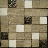 住宅建設のタイル(FYSM091)のためのステンレス鋼の混合された大理石の石造りのモザイク