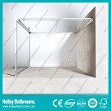 Casa impermeável de alumínio do chuveiro da barra da ferragem do aço inoxidável de porta deslizante (SE614C)