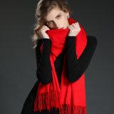 Signora rosso-chiaro Scarf Shawl dell'involucro del cachemire degli accessori di modo
