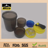 500ml pp Plastic Eco-Friendly Feature Not Ceramic Coffee Promotion Shaker Mug (SHK-007)