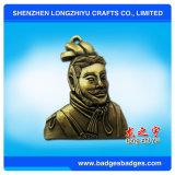 Insigne antique fait sur commande en métal de l'imitation 3D de personne classique