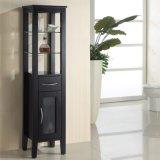 Klassischer Eichen-Holz-Seiten-Schrank für Badezimmer