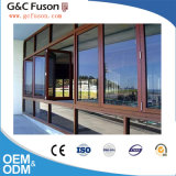 Apertura lateral horizontal y vertical que resbala la ventana de aluminio