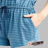 Damenknit-Garn-Farben-Streifenbeiläufiger Drawstring-Einkaufen-Spielanzug