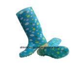 Bottes de PVC Wellington pour des femmes, bottes de Madame pluie