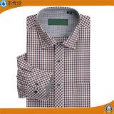 Camice convenzionali dal plaid degli uomini di alta qualità di vestito di affari classici della camicia