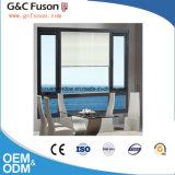 De grijze Schommeling van het Aluminium van de Kleur buiten en het Vaste Glas van het Venster