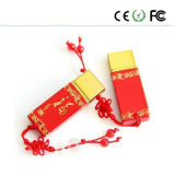 El nuevo USB Flash Drive de cerámica rojo chino Bendición del disco de U