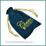 高品質の刺繍のビロードのギフト袋の刺繍のビロードの宝石類袋