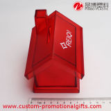 Boîte rouge d'économie de pièce de monnaie de Chambre de dessin animé transparent en plastique
