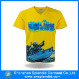 T-shirt barato feito sob encomenda da impressão da V-Garganta da alta qualidade dos homens