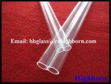 Tubo de cristal doble de cuarzo de la silicona del agujero