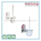 Balai de toilette de nettoyage de salle de bains de cuvette d'aspiration et jeu de support