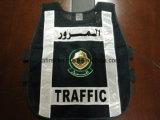 Veste da segurança com engranzamento do emblema 100%Polyester da polícia
