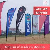 Kundenspezifische im Freien fördernde Strand-Auto-Spiegel-Markierungsfahne mit Polen