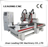 Multi máquina do router do CNC do Woodworking do eixo da cabeça dois