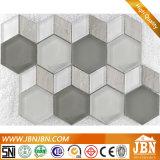 De nieuwe Diamant van het Patroon en Hexagon Bruine Mozaïeken van het Glas van de Muur van de Kleur (M855164)