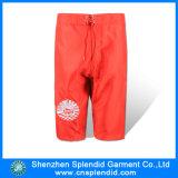 Shorts vermelhos do pugilista do Mens da lona do algodão do Sportswear da forma de Guangdong