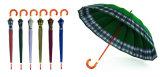 검사하십시오 국경 단단한 가장자리 방풍 겹 우산 (YS-3FM21083406R)를