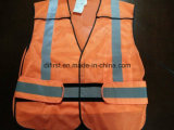 Sicurezza Vest Flu Orange 100%Polyester Mesh
