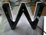 LED Frente Iluminado Fabricado Halo Resina Epoxy Acrylic Channel Letters