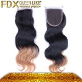 流行のスムーズで新しく自然な2つの調子の毛の織り方の閉鎖