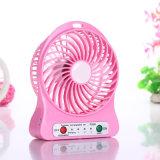 Mini ventilateur Micro-USB rechargeable avec l'éclairage de DEL (PP-V02)