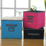 Soem Non Woven Fabric Folding Storage Cubes Storage Box mit Card Holder