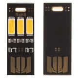 Lumière chaude de mini d'USB du pouvoir 3 DEL de nuit lampe portative de lumière universelle pour l'ordinateur mobile de chargeur de côté de pouvoir