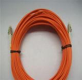 LC alla fibra duplex Patchcord, LC di LC ai cavi di zona ottici della fibra multimoda di LC/cavo/ponticello