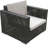 Sofà esterno del rattan del PE della mobilia del patio della mobilia