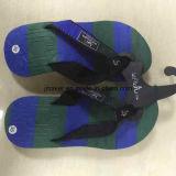 Zapatillas de playa de verano de colores con pies impresos para los hombres