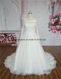 Chemise de robe de mariage d'off-Shouler de lacet longue